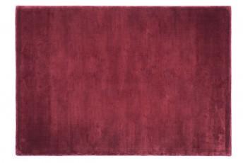 Tapis uni BLANK en laine de viscose, rouge