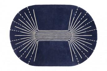 SPARK tapis laine bleu Pantone classic Blue LONDONART