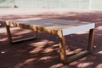 BARKA, banc 2 places en bois massif d'Ipé ou d'Acacia