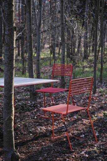 Chaise extérieur de jardin TINA en acier