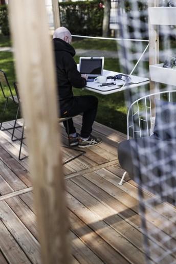 Plancher sol en bois de mélèze pour module LEVA