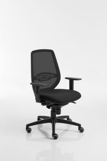 Fauteuil de bureau POST 30 avec accoudoirs dossier haut ergonomique en résille noir