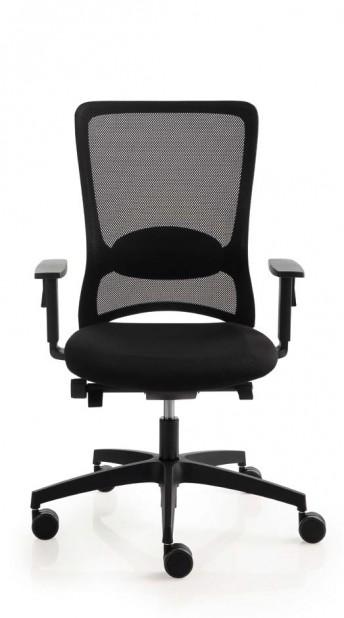 Fauteuil de bureau POP avec accoudoirs dossier haut ergonomique en résille noir