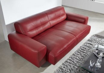 Canapé design cuir 3 places DUMPY en cuir assise motorisée