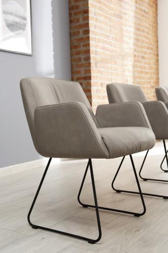 Chaise à accoudoirs BARTY cior ou tissu