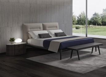 KENDO.B, lit design en cuir, tissu ou nubuck daim