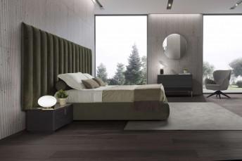 Lit SUBLIMATION très grande tête de lit base coffre ou sommier électrique ou Box-Spring
