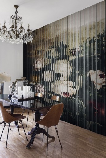 LIFE LOOP tapisserie florale géométrique LONDONART