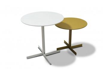 Bout de canapé petite table BABY.T en acier & bois couleur