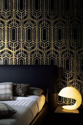 BLACK FAIRY tapisserie géométrique LONDONART