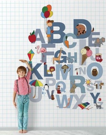 Tapisserie alphabet enfants WILLIAM LONDONART