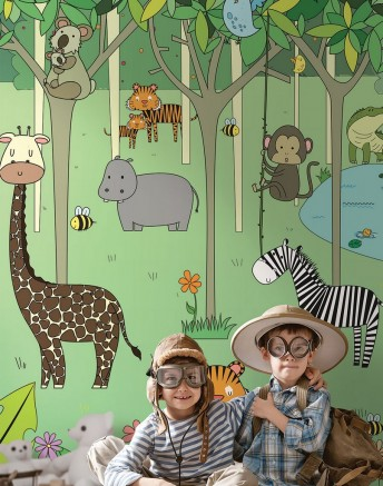 HARRY papier paint enfants jungle illustration LONDONART