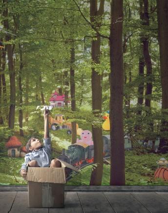 BRYAN tapisserie enfants forêt enchantées phot & dessins LONDONART
