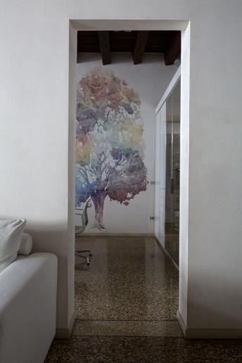 Papier peint arbre couleurs SUZEE LONDONART