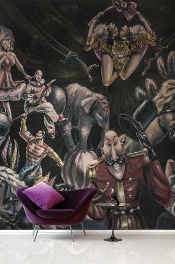 Papier peint PARTY PEOPLE cirque LONDONART