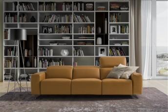 ACHILLE.L.RELAX canapé cubique électrique & relax 3 places
