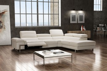 Canapé angle cuir design & relax DIAMOND.L.RELAX 5 places