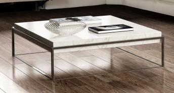 BB.SUGAR, table basse en marbre blanc Calacatta carrée
