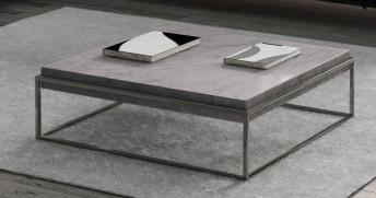 Tabla basse en marbre cappuccino BB.SUGAR 110 x 110 cm