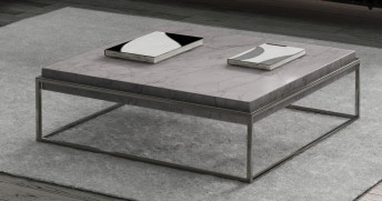 Table basse en marbre cappuccino BB.SUGAR 110 x 110 cm
