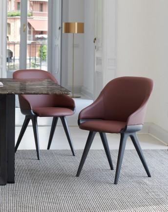 Chaise pieds & base bois de frêne LYZ Potocco