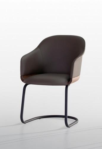 Chaise swinger cantilerver LYZ base bois de noyer ou frêne
