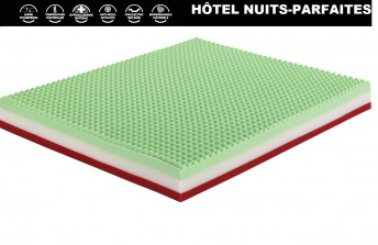 Matelas HÔTEL NUITS-PARFAITES 24 cm biodégradable, ultra aéré, anti-punaises