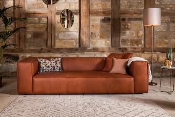 Canapé cuir cubique FURYO-LOUNGE 3 places