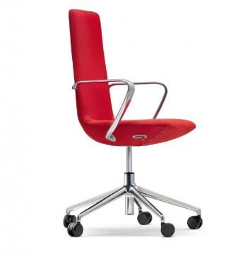AFFAIR, fauteuil de bureau design cuir ou tissu, dossier flex & hauteur réglable