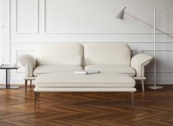 Canapé 2,5 places CONTEMPLATION.TM design cuir ou tissu