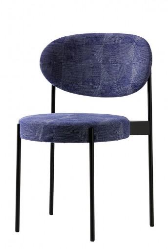 Verner PANTON, lot de 2 chaises SERIE 430 en tissus Kvadrat Crystal Field