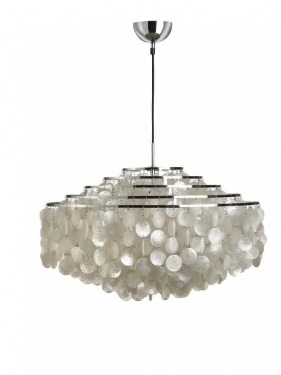 Lampe design luxe Verpan FUN 11DM nacre pure