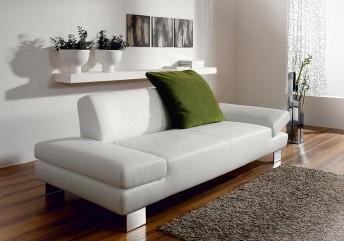 Canapé cuir ou tissu design 2 places LONGRUN