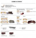 Canapé design AD.SENSO 3 places ultra confort
