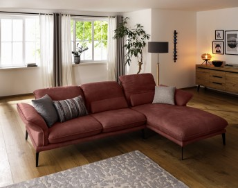 Canapé d'angle 3,5 places CONTEMPLATION.TM tissu ou cuir