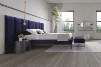 ADMIRATION sublime lit avec tête de lit murale tapissée & design