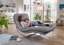 Chaise longue cuir ou tissu ROCKYOU XL large