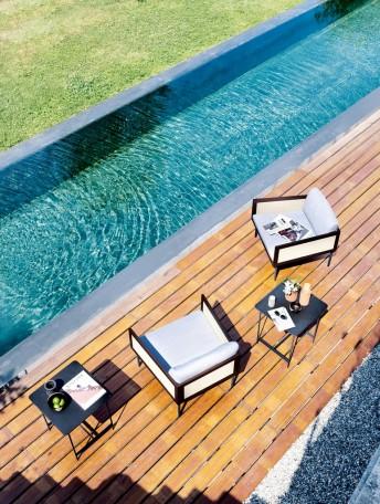 Fauteuil de terrasse ou piscine minimaliste LOOM