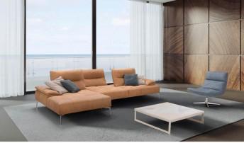 Canapé d'angle avec chaise longue profondeur réglable DEEPY.LOUNGER