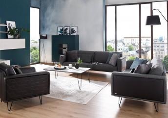 Canapé 3 places cuir ou tissu GUESS.TM