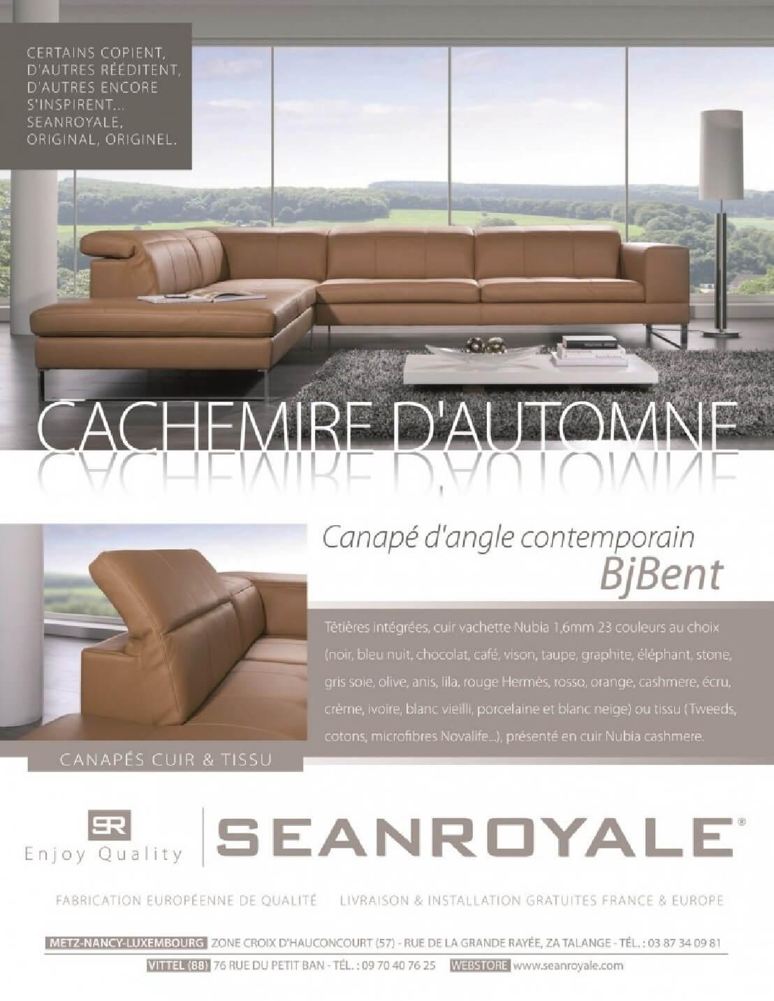 Canape 4 5 Places Design En Cuir D Angle Bjbent