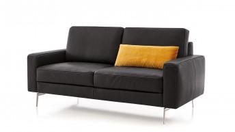 Canapé 2,5 places cubique BRADY.SWING cuir ou tissu
