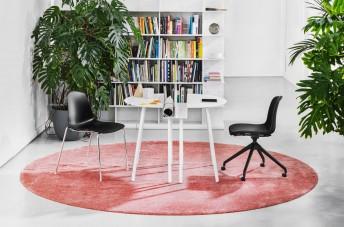 Bureau compact en métal de couleur CRONO, LUXY