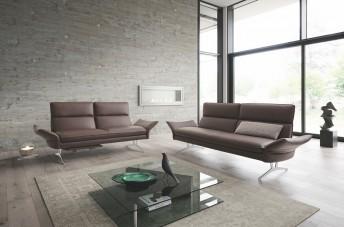 Canapé design FARROW.TM 3 places cuir ou tissu