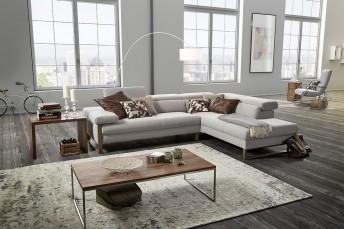 DreamLINE canapé d'angle cuir design 4 places assises réglables