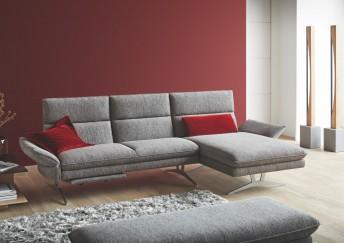 Canapé d'angle FARROW.TM 3,5 places avec chaise longue, tissu ou cuir