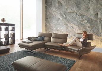 Canapé d'angle 4 places FARROW.TM.SWING chaise longue large assises pivotantes & dossiers réglables