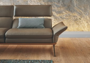 FARROW.TM, grand coussin lombaire rectangulaire cuir ou tissu