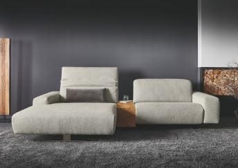 Canapé d'angle 3 places avec chaise longue très large FERGUY.TM, avec coffre de rangement