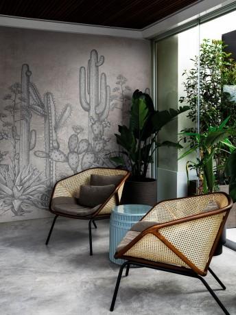 Cactus vintage SAN PEDRO papier peint LONDONART